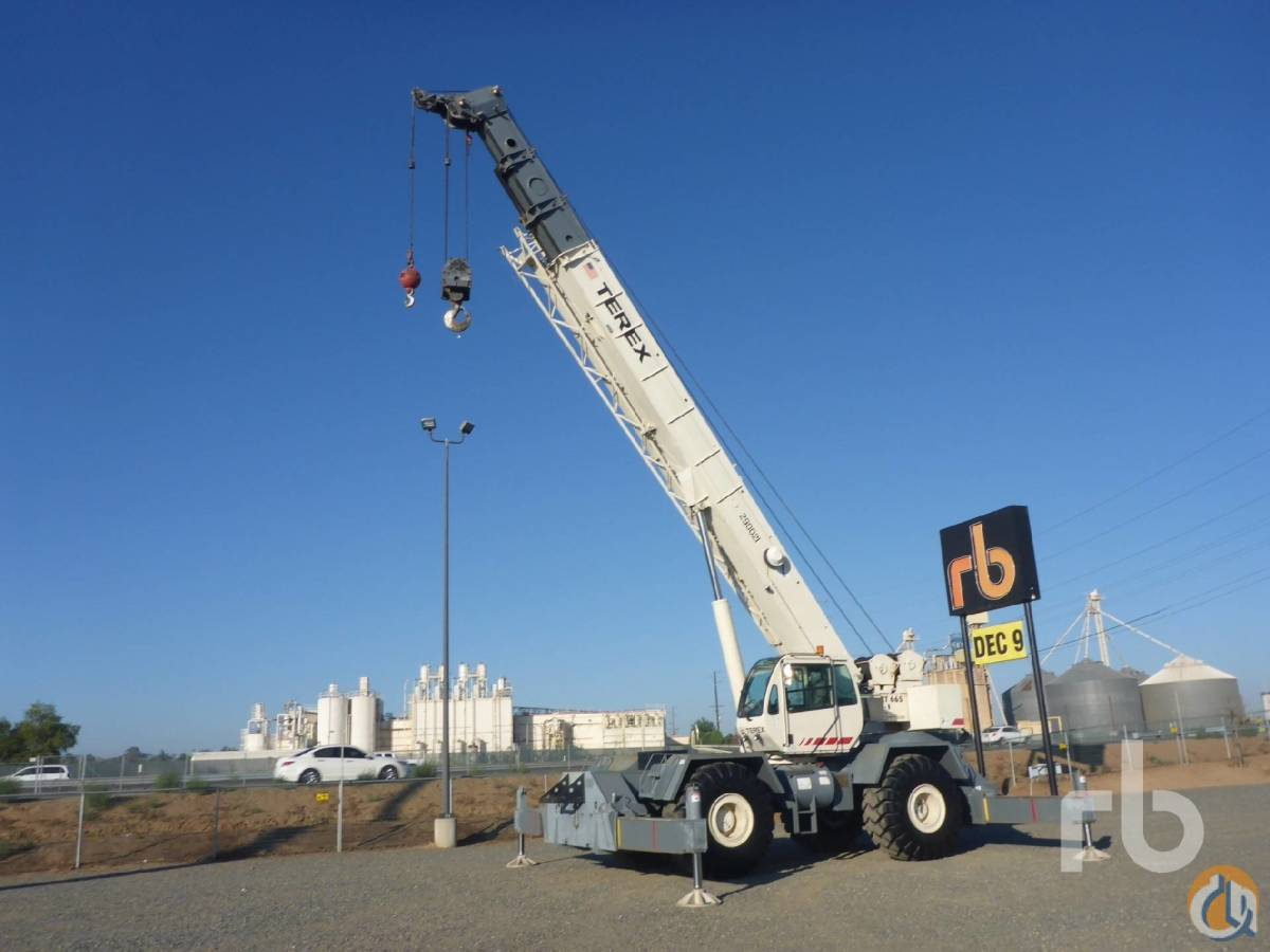 Sold 2007 TEREX RT665 65 Ton 4x4x4 Rough Terrain Crane Crane for  in Los Angeles California on CraneNetworkcom