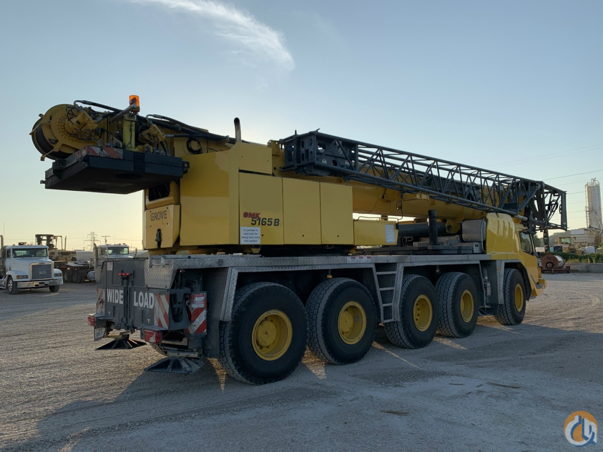 2009 GROVE GMK5165B ALL TERRAIN Crane for Sale on CraneNetwork.com