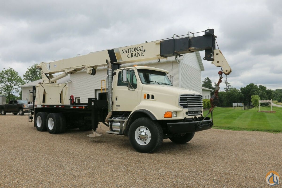 Sold 2008 National 900A Mounted on Sterling LT8500 Crane for  in Wellman Iowa on CraneNetwork.com