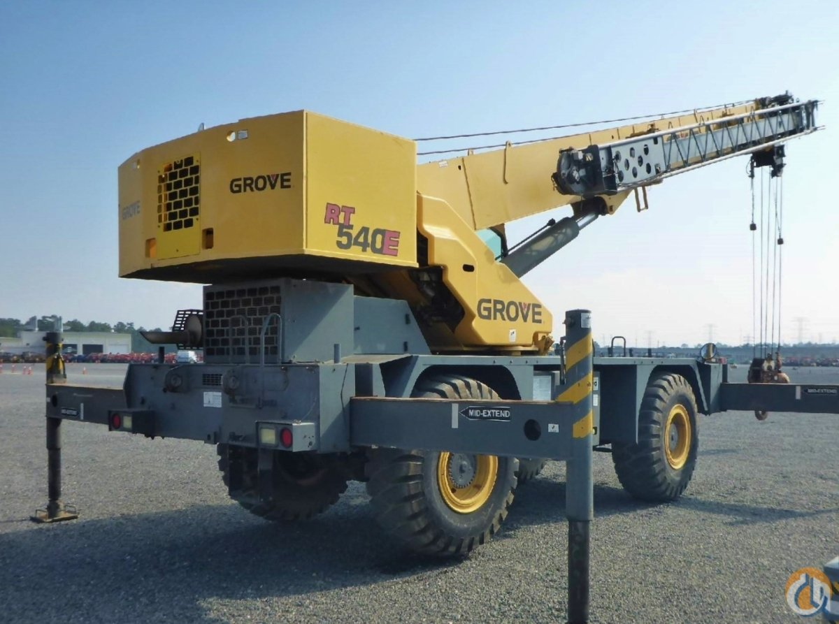 2007 GROVE RT-540E Crane for Sale or Rent in Savannah Georgia on CraneNetwork.com