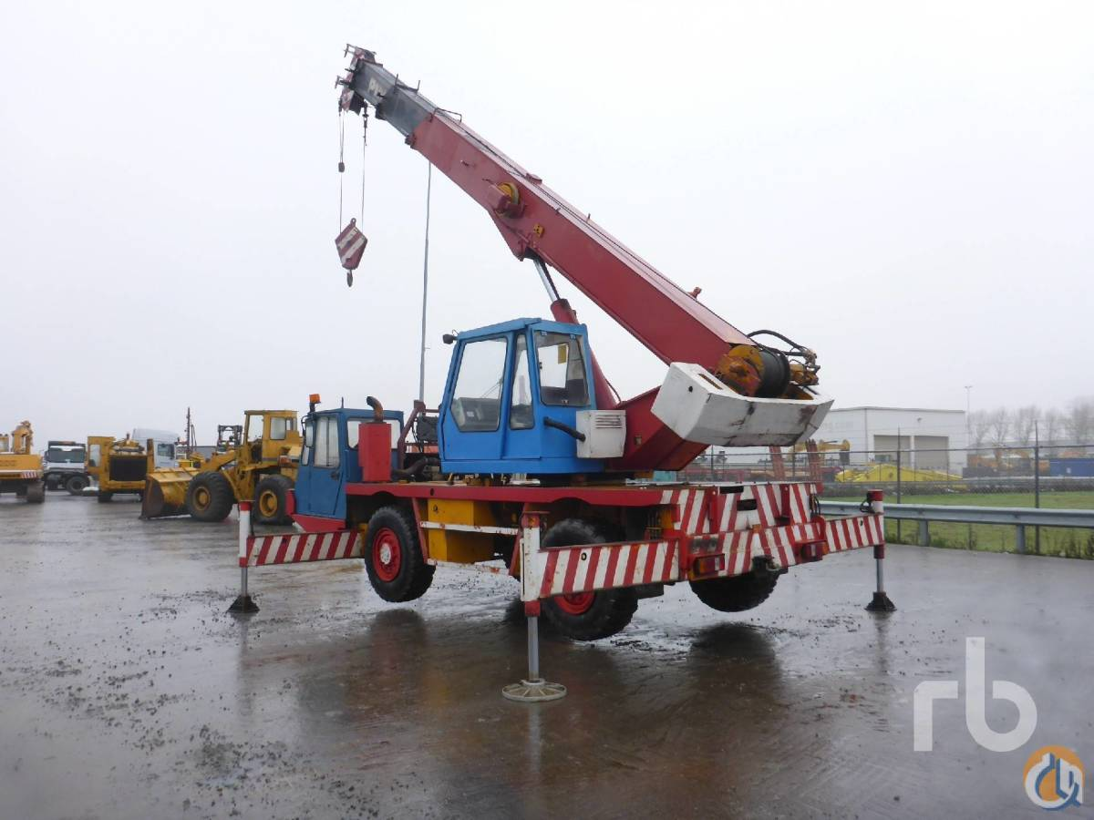Sold 1990 PINGUELY TTR180 Crane for  in Zevenbergen North Brabant on CraneNetworkcom