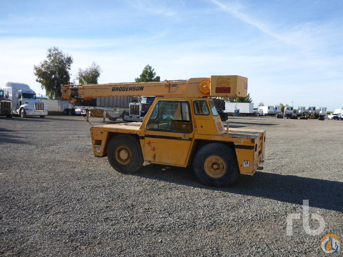 Broderson IC80-3E Carry Deck Industrial Cranes Crane for Sale 1996 BRODERSON IC80-3E in Sacramento  California  United States 218174 CraneNetwork