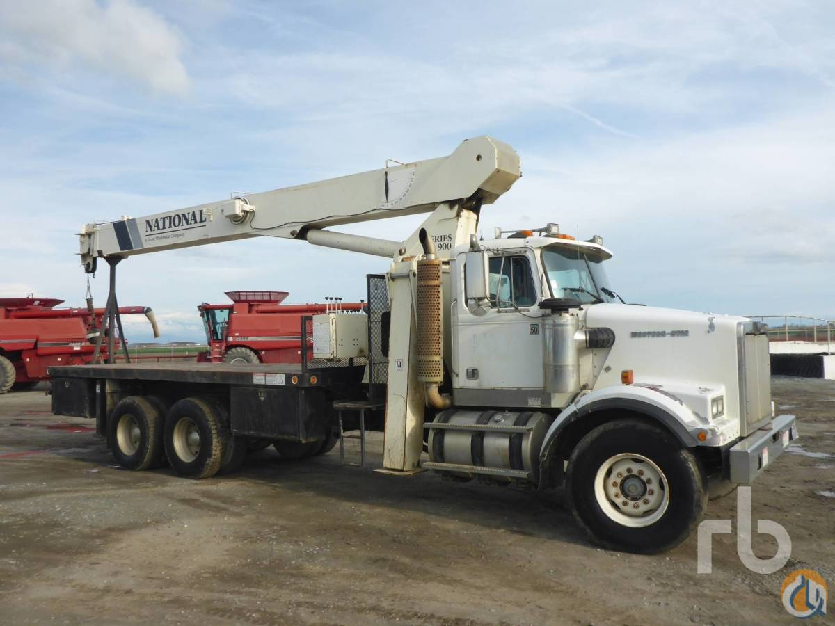 Sold 1993 WESTERN STAR 4864F TA wNational 990 23 Ton Boom Truck Crane for  in Toronto Ontario on CraneNetworkcom