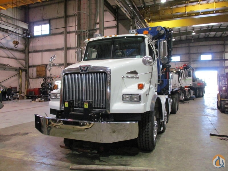 Used PM 100028SP knuckle boom crane installed on 2016 Western Star 4800 chassis Crane for Sale in Hampton New Jersey on CraneNetwork.com