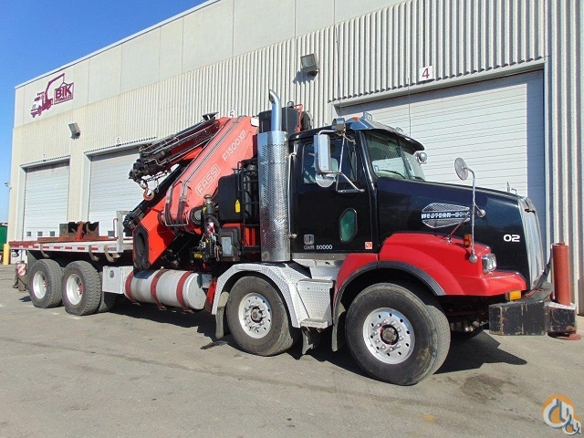 2007 WESTERN STAR 4800 TA-TA With FASSI 1500 KNUCKLE BOOM  124 REACH  18 ALUMINUM DECK Crane for Sale in Toronto Ontario on CraneNetwork.com