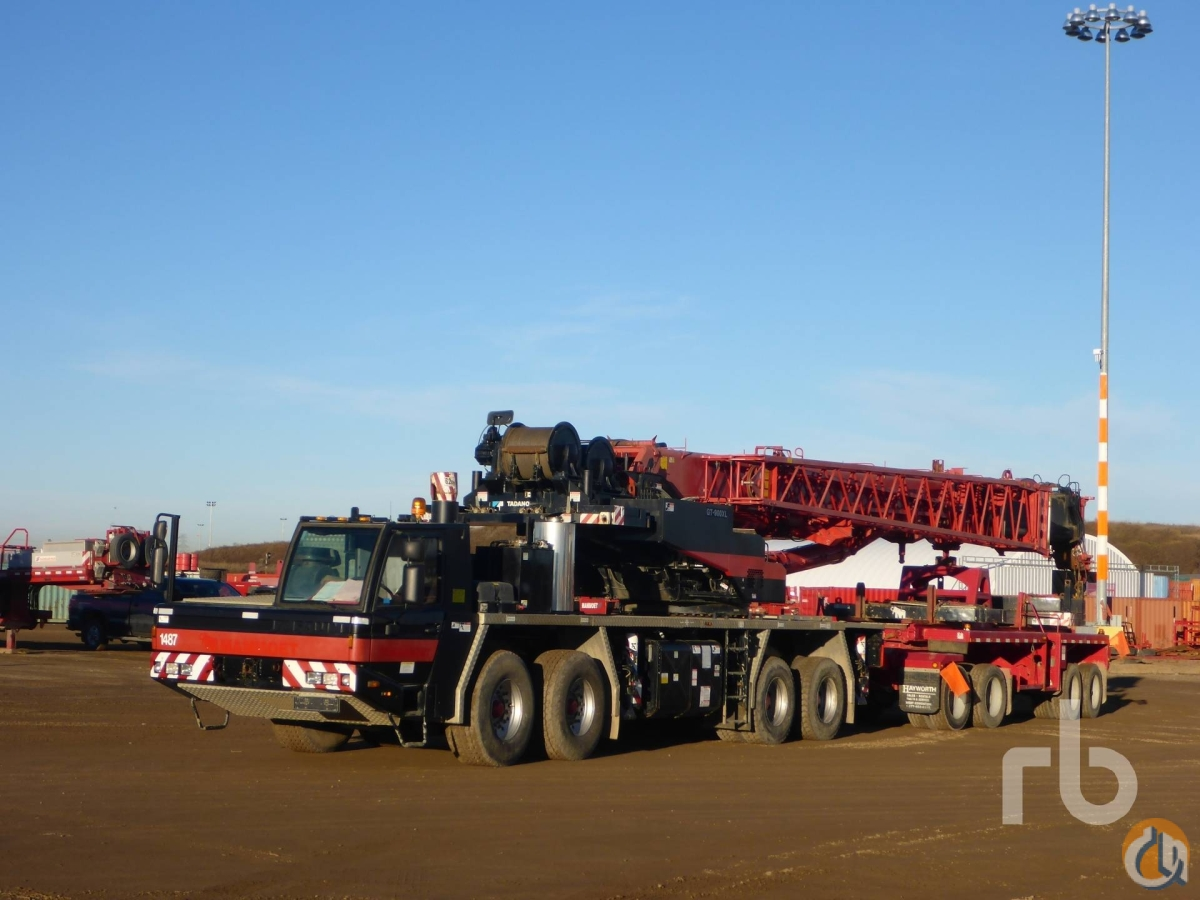 Sold 2008 TADANO GT900XL 90 Ton 8x4x4 Hydraulic Truck Crane Crane for  in Edmonton Alberta on CraneNetworkcom