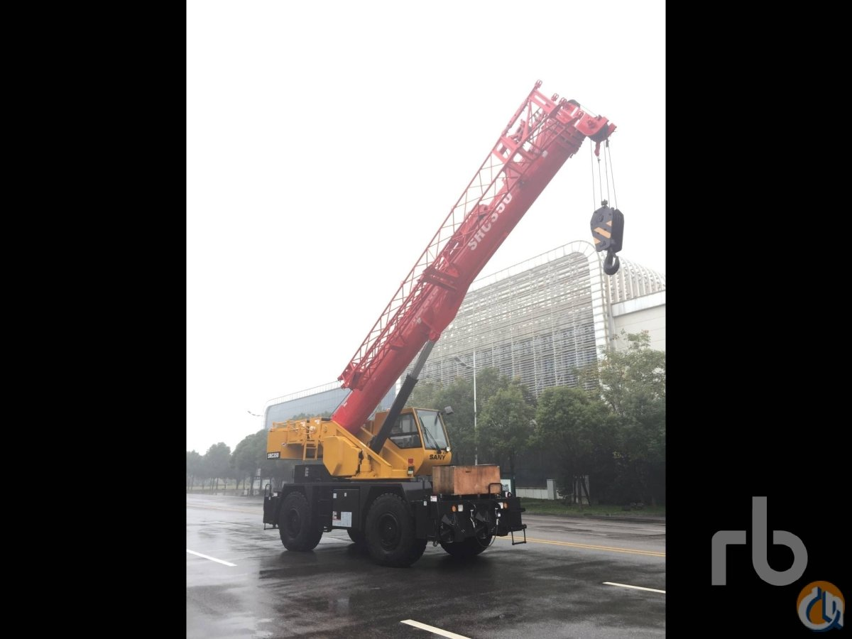 Sold UNUSED 2016 SANY SRC350 35 Ton 4x4x4 Rough Terrain Crane Crane for  in Dubai Dubai on CraneNetworkcom