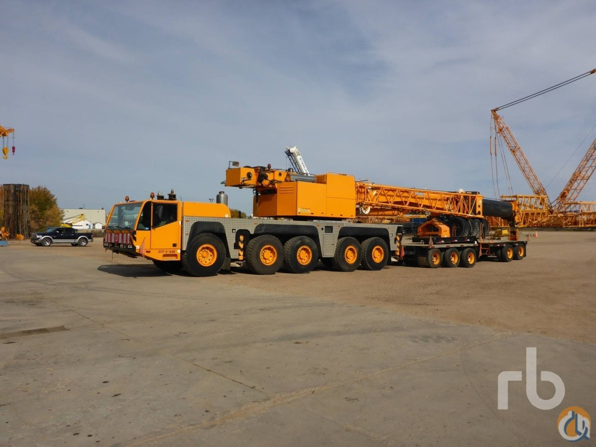 Demag AC160-1 All Terrain Cranes Crane for Sale 2004 DEMAG AC160-1 160 Ton 10x8x8 All Terrain Crane in Edmonton  Alberta  Canada 218923 CraneNetwork