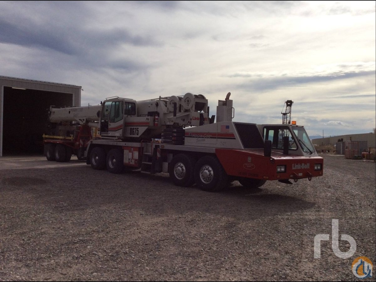 Sold 2008 LINK-BELT HTC8675 75 Ton 8x4x4 Series II Hydraulic Truck Crane Crane for  in Denver Colorado on CraneNetworkcom