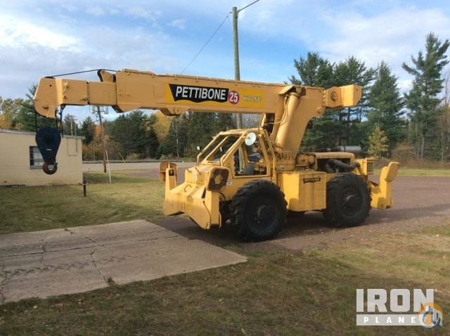 Sold Pettibone 25 Rough Terrain Crane Crane for in Baraga Michigan