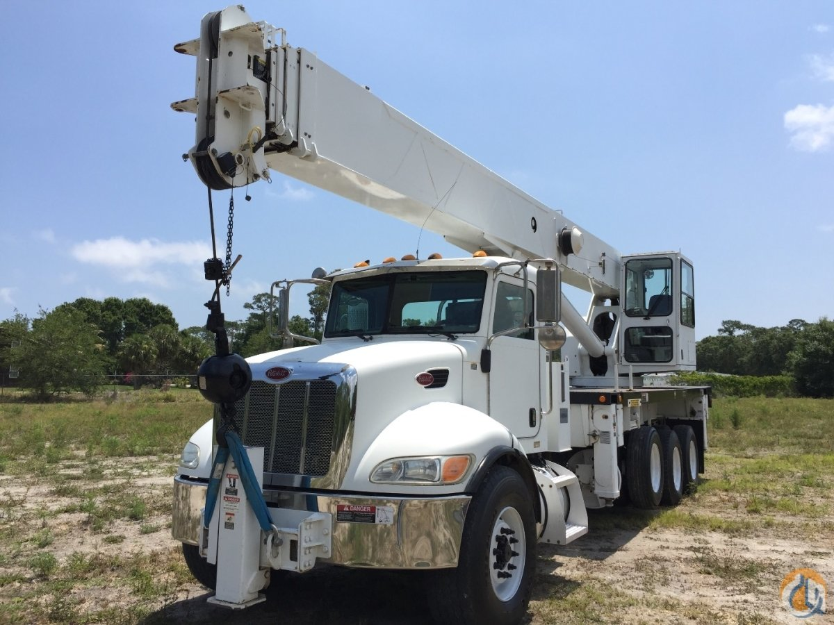 Sold 2007 ALTEC 38 ton 38127 PETERBILT 4 axle truck Crane for  in Fort Pierce Florida on CraneNetwork.com