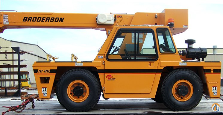 BRODERSON IC-80-3J CARRY DECK CRANE Crane for Sale or Rent in Houston Texas on CraneNetworkcom