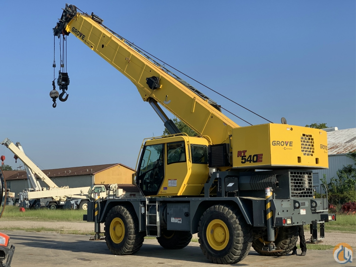 2013 GROVE RT540E ROUGH TERRAIN CRANE Crane for Sale in Houston Texas on CraneNetwork.com