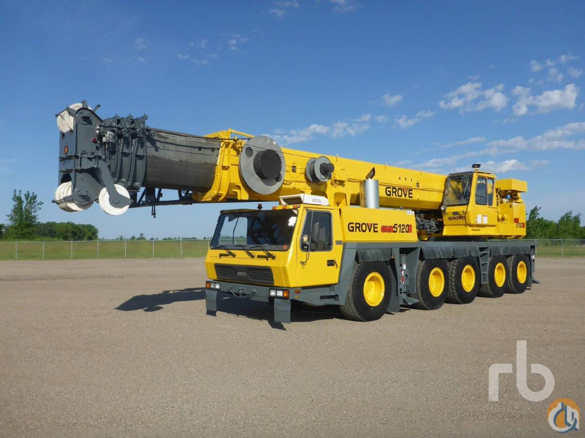 2003 GROVE GMK5120B 120 Ton 10x8x10 All Terrain Crane Crane for Sale in Minneapolis Minnesota on CraneNetworkcom