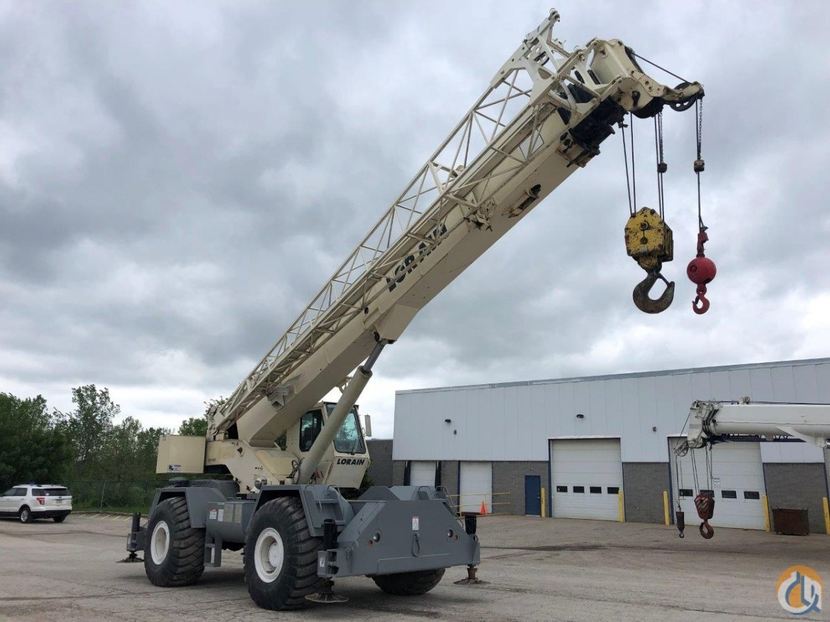 1996 Terex RT450 50 ton rough terrain crane for sale Larain Crane for Sale in Solon Ohio on CraneNetwork.com