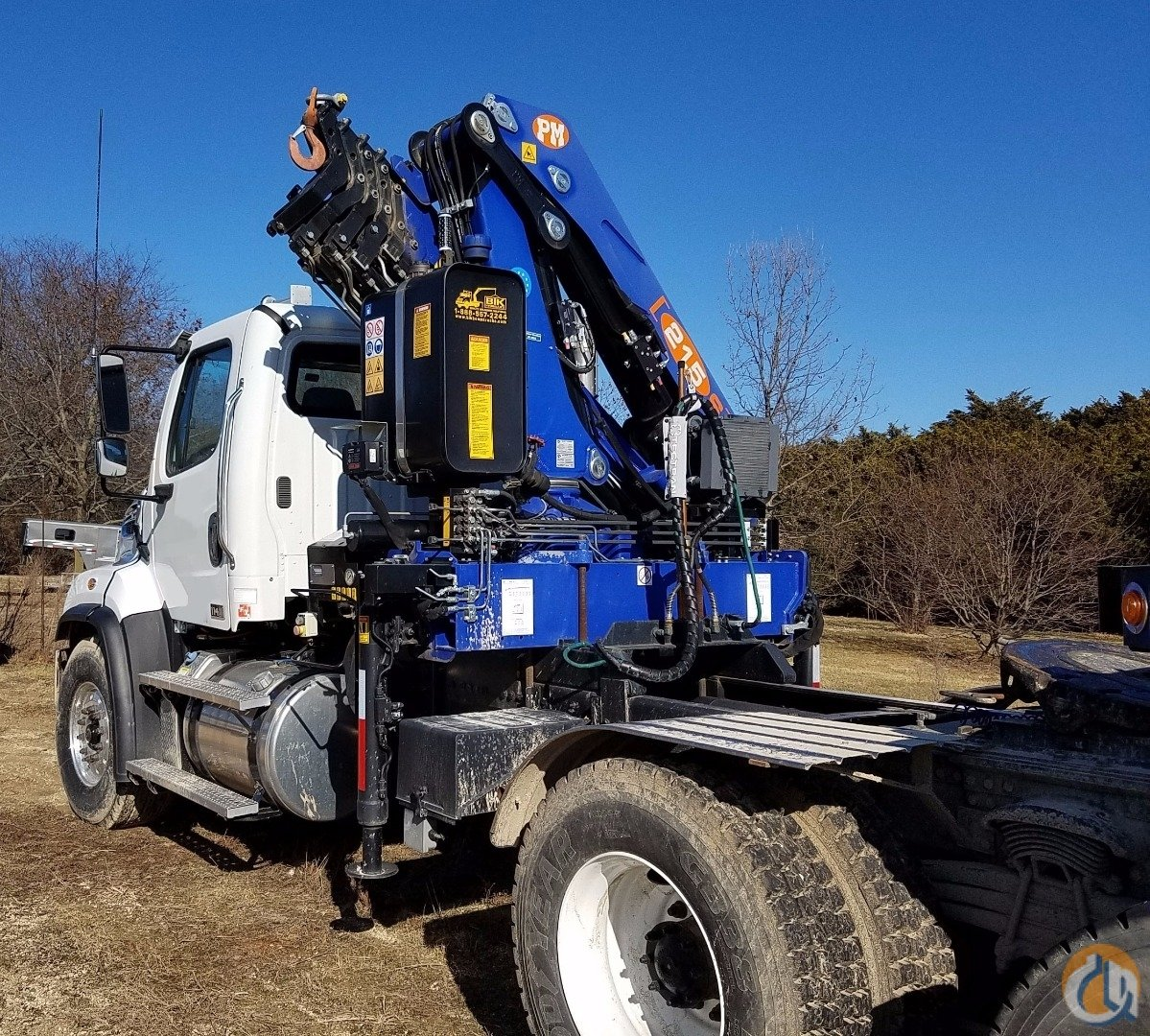LIKE NEW 201213 Tractor-Mounted PM 21525 S Knuckle-Boom Crane for Sale on CraneNetwork.com