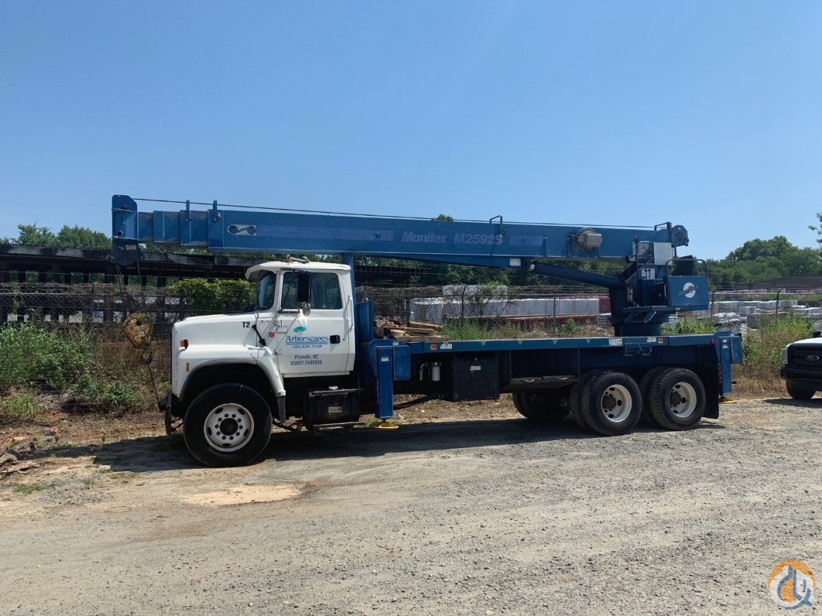 Sold 1997 Manitex 2592S Rear Mount Crane Crane for  in Charlotte North Carolina on CraneNetwork.com