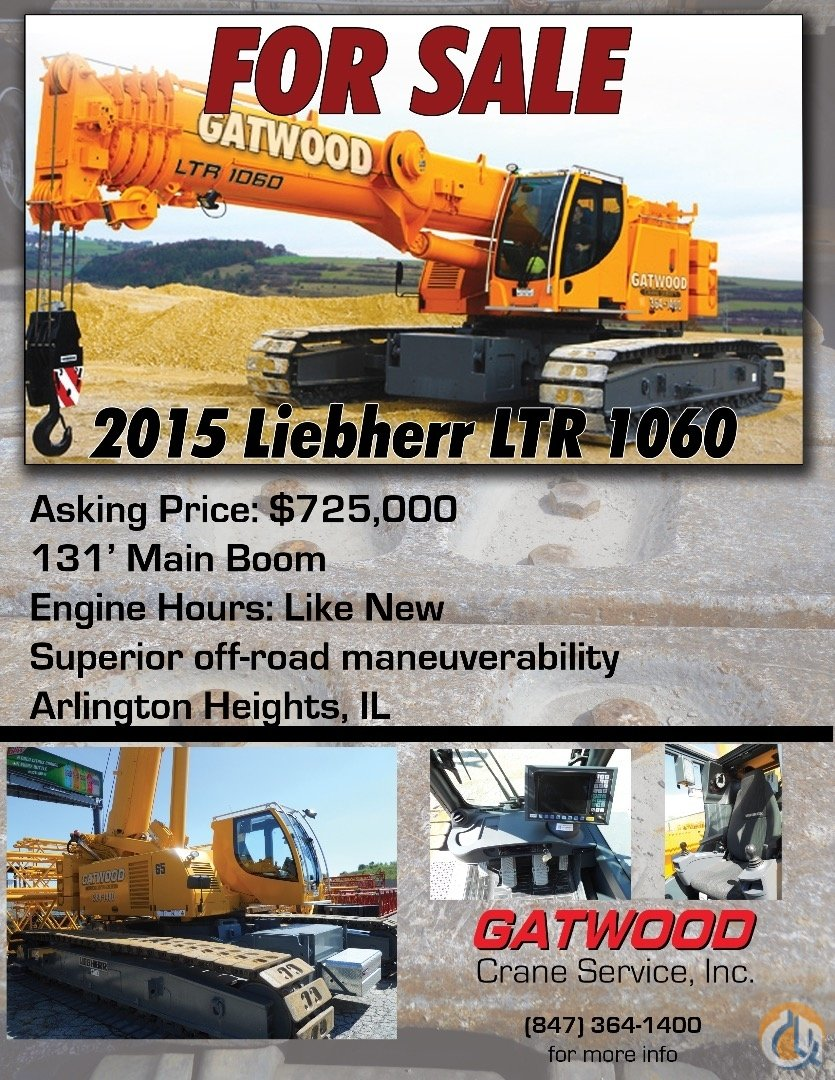 FOR SALE 65-Ton LTR 1060 Crane for Sale on CraneNetworkcom