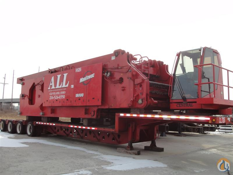 Manitowoc 18000 for sale Crane for Sale in Pittsburgh Pennsylvania on CraneNetworkcom