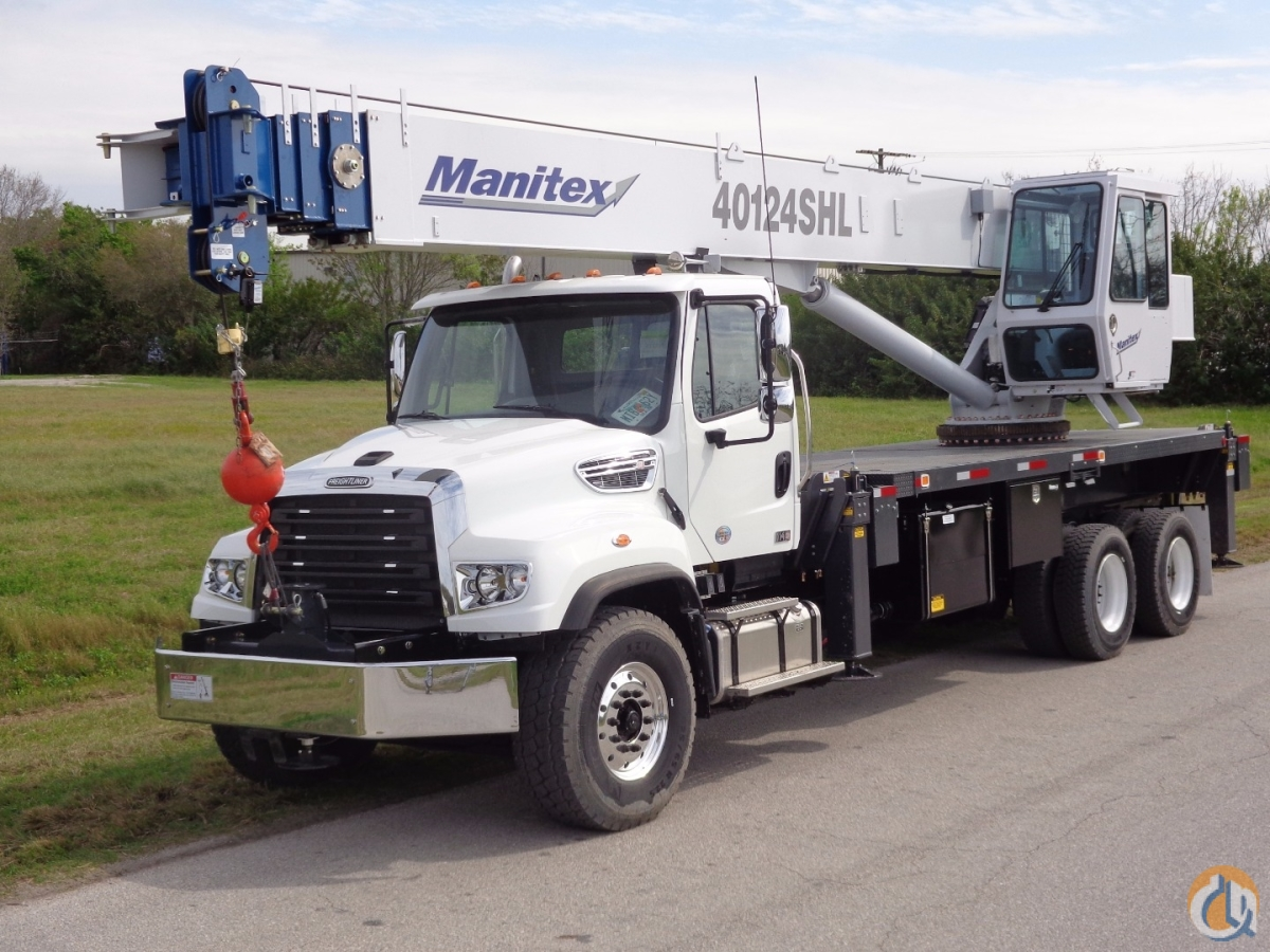 2014 Manitex 40124SHL on 2014 Freightliner 114SD Tandem Crane for Sale in Orlando Florida on CraneNetwork.com