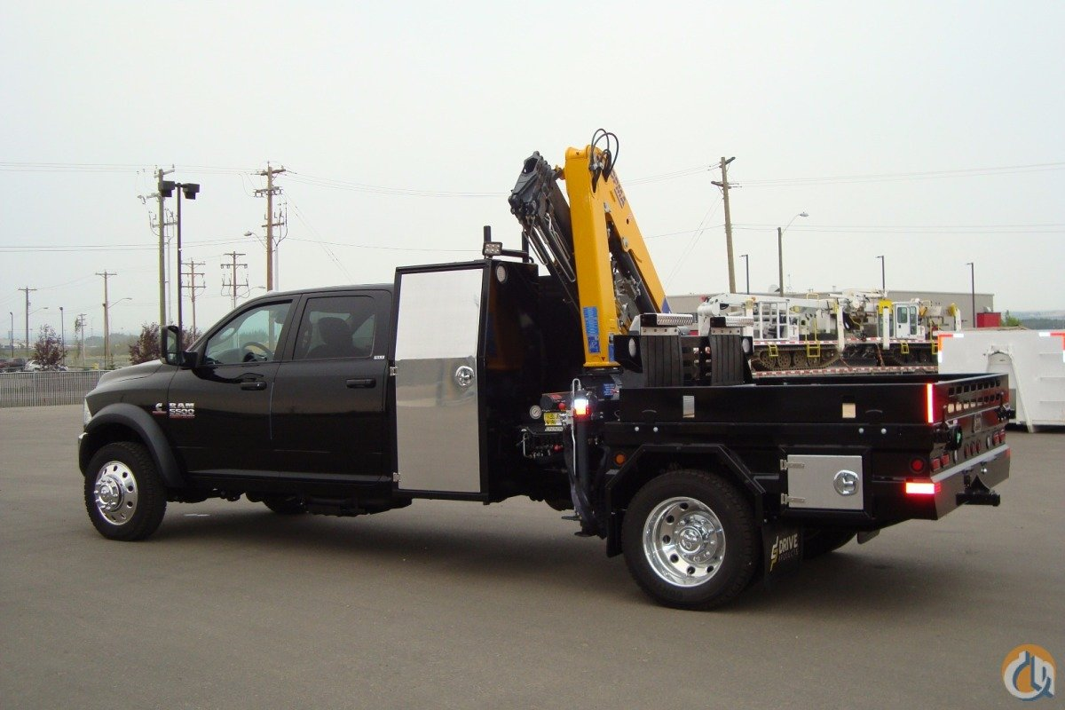 2015 DODGE 5500-Crane  Flat Deck  Hot Shot Crane for Sale in Edmonton Alberta on CraneNetwork.com