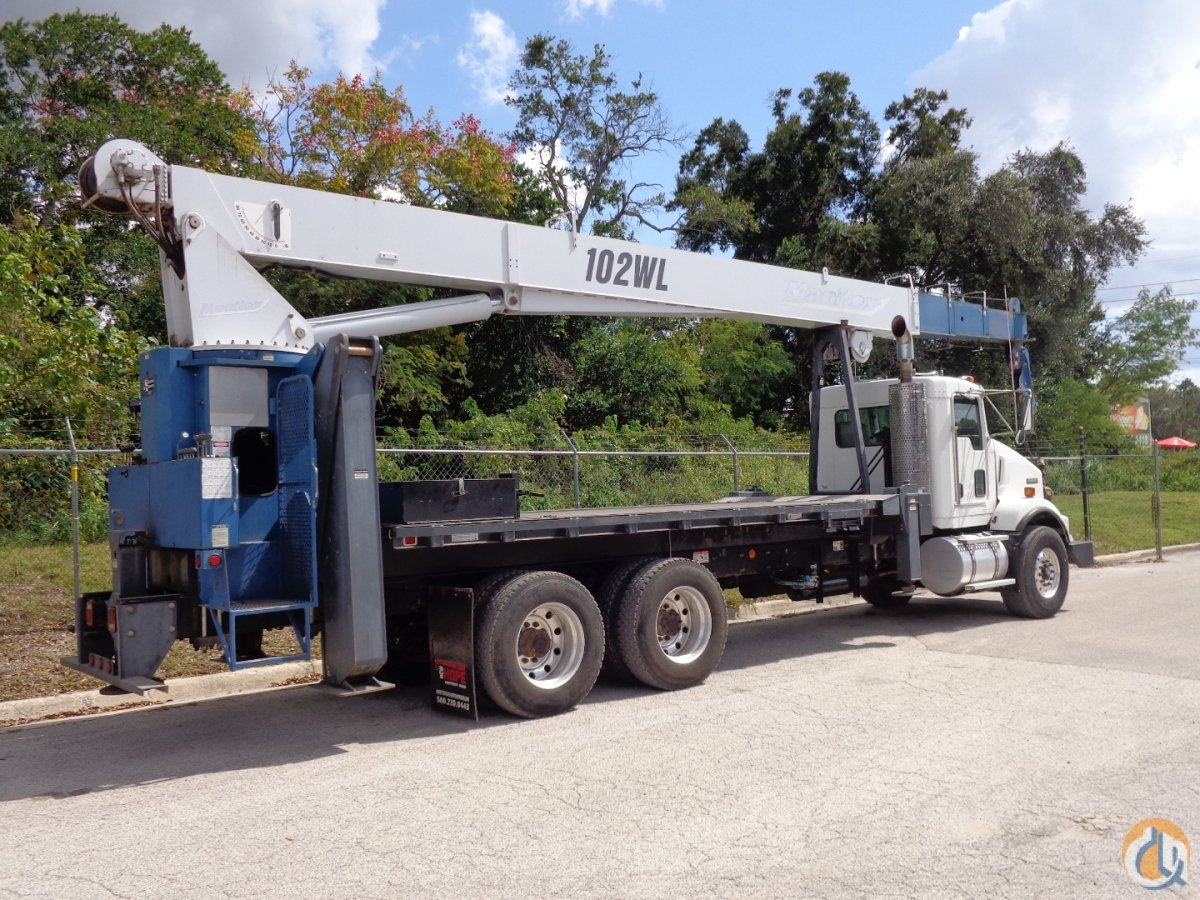 2009 Manitex 30102WL on a 2009 Kenworth Crane for Sale in Tampa Florida on CraneNetworkcom