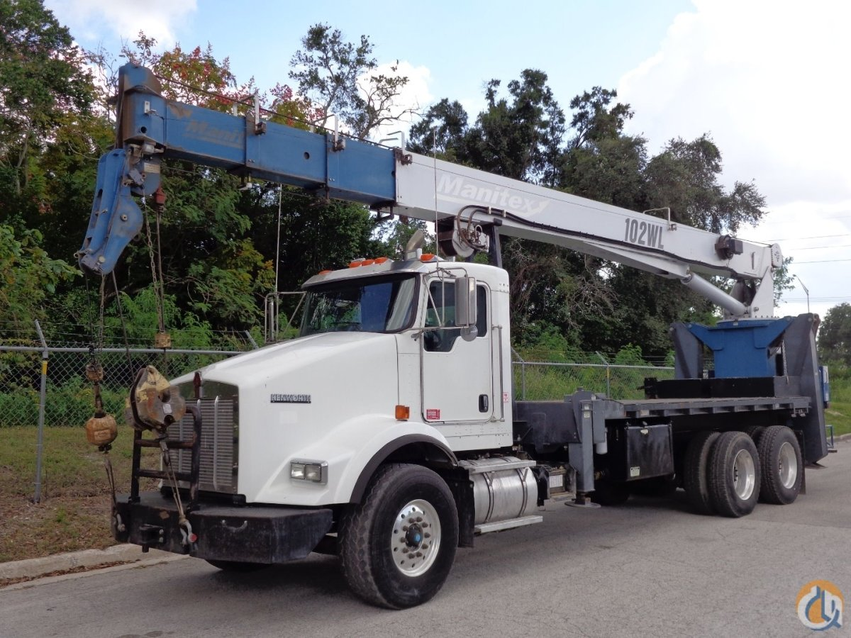 Manitex 30102WL Boom Truck Cranes Crane for Sale  2009 Manitex 30102WL on a 2009 Kenworth in Tampa  Florida  United States 217357 CraneNetwork