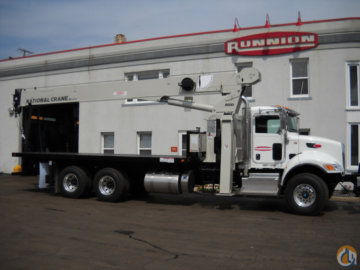 National 8100D 23 Ton Crane on 2015 Peterbilt 348 Tandem axle Truck Crane for Sale in Lyons Illinois on CraneNetwork.com
