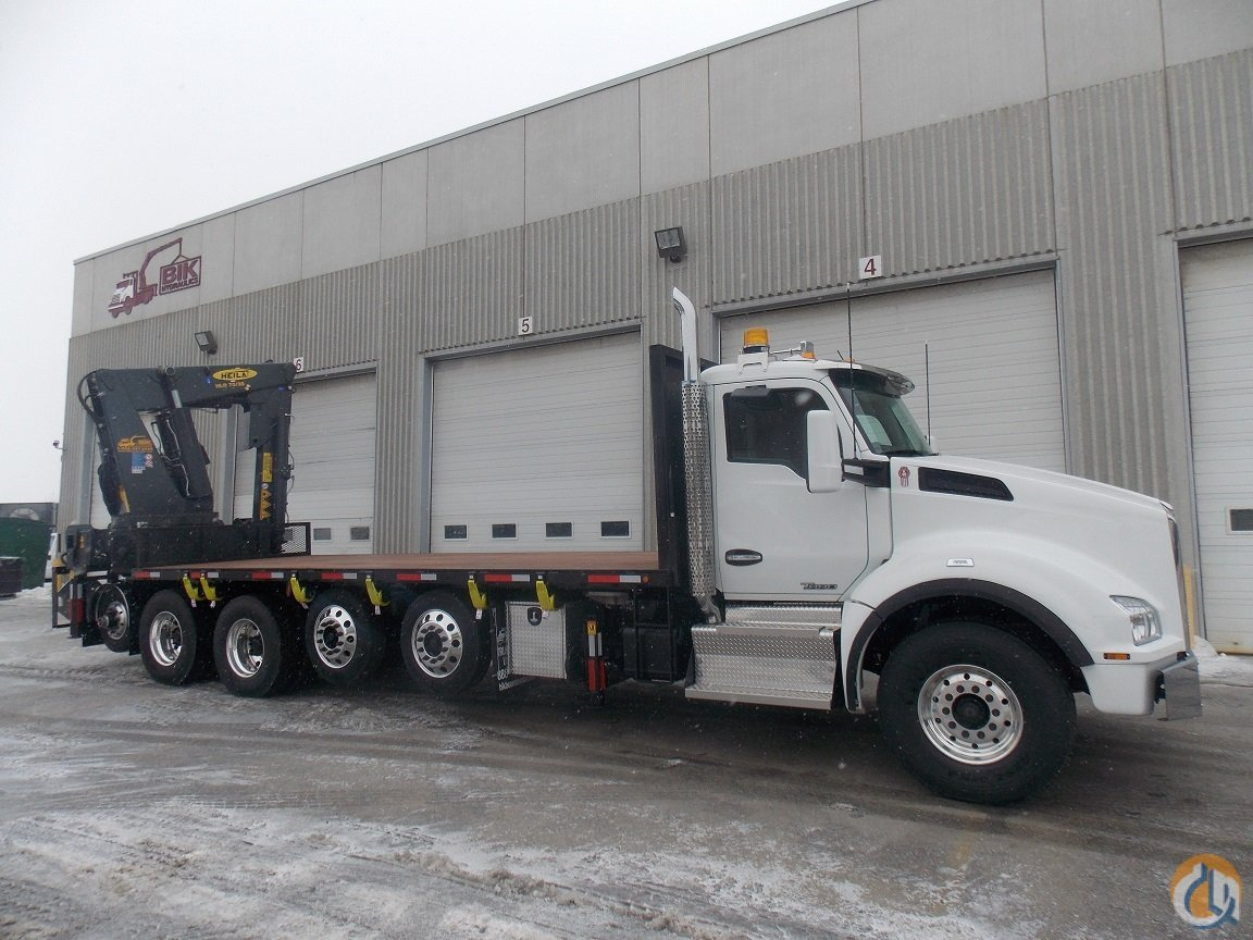 NEW HEILA HLR 70000-3s KNUCKLE BOOM on NEW 2017 KW T880 5-AXLE 500 HP  18 SPD with 22 DECK - IDEAL HEAVY LIFT PRECAST HANDLER Crane for Sale in Toronto Ontario on CraneNetworkcom