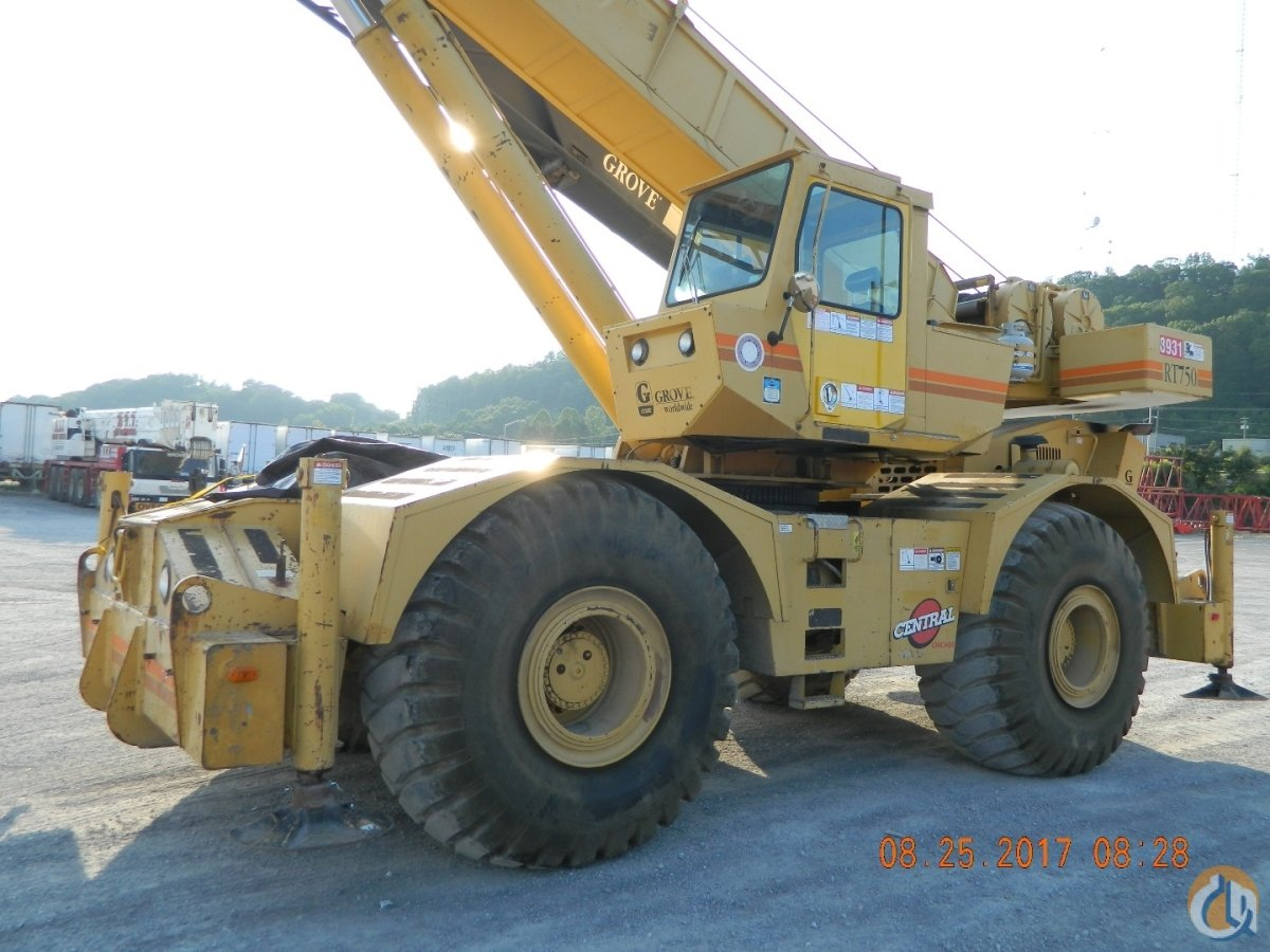 Grove RT750B Crane for Sale in Knoxville Tennessee on CraneNetwork.com