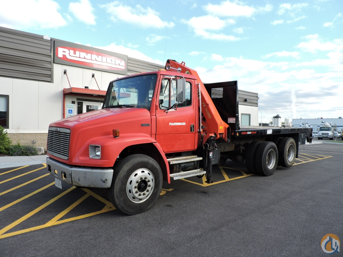 Palfinger PK14080 mounted on a 2001 Freightliner FL080 Crane for Sale in Hodgkins Illinois on CraneNetwork.com