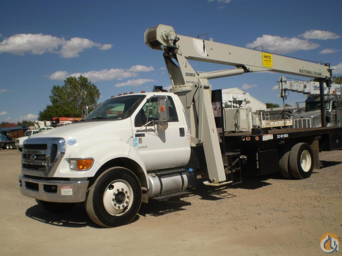 Sold National 571E2 boom truck crane mounted on Ford F-750 ... on