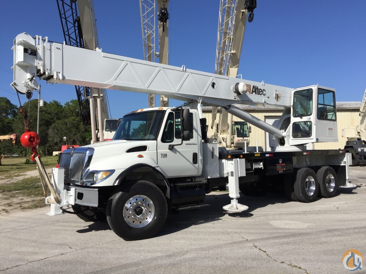 2007 INTERNATIONAL HT570 W ALTEC 38 ton AC38127S Crane for Sale in Fort Pierce Florida on CraneNetwork.com