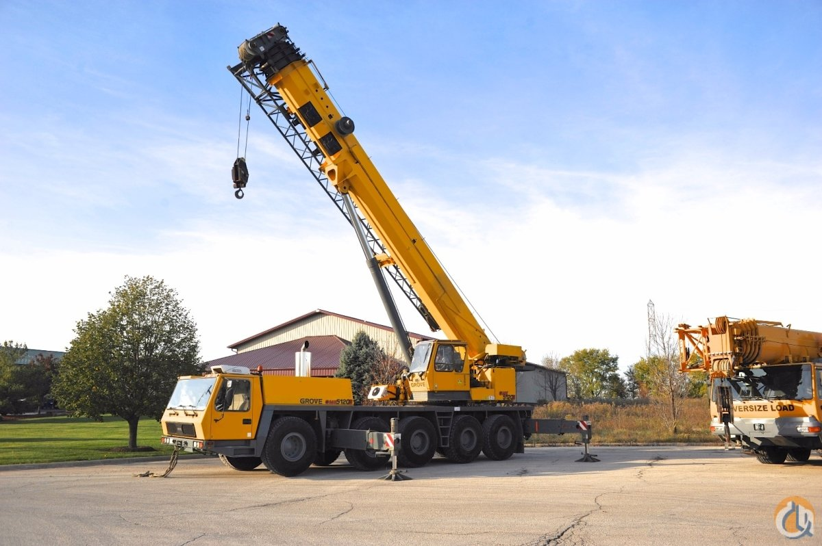 2003 GROVE GMK-5120B VERY Low Hours Hours  Low Miles Dolly Option U.S. Spec Crane with All Options Crane for Sale in Chicago Illinois on CraneNetwork.com