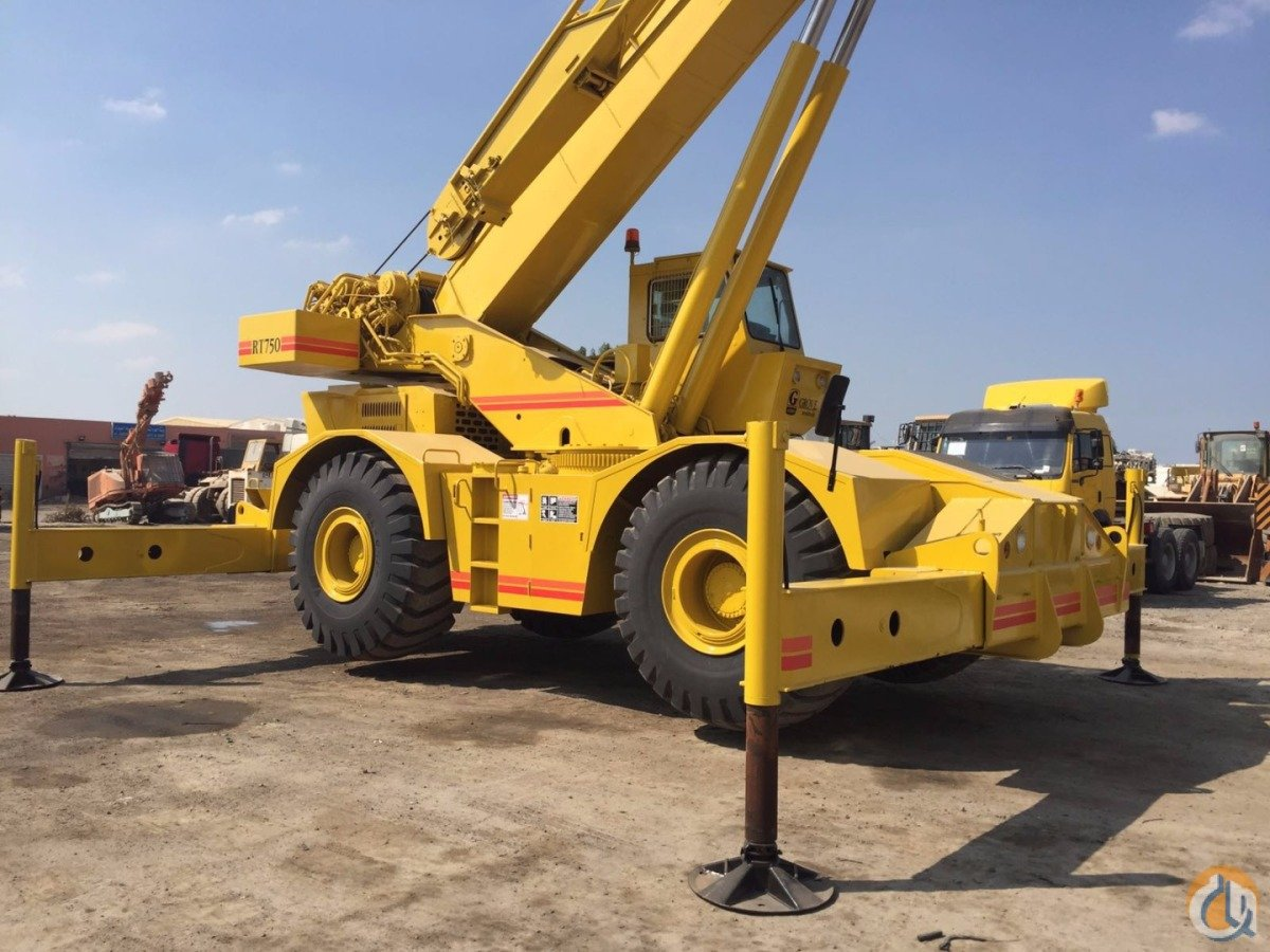 Sold Grove Rt750 4x4x4 Rough Terrain Crane Crane For On