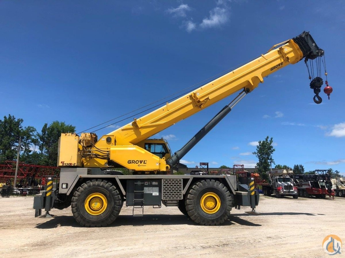2012 Grove RT9130E 130 ton rough terrain Crane for Sale on CraneNetwork.com