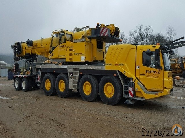 Sold Grove GMK4115L for Sale Crane for  in Birmingham Alabama on CraneNetworkcom
