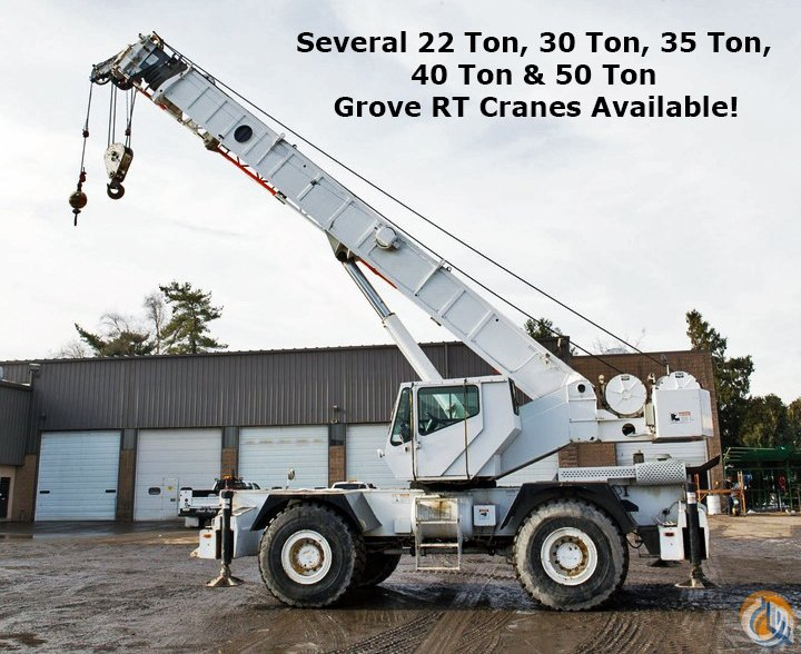 40 ton grove rt740b long boom rough terrain crane for sale in rh cranenetwork com