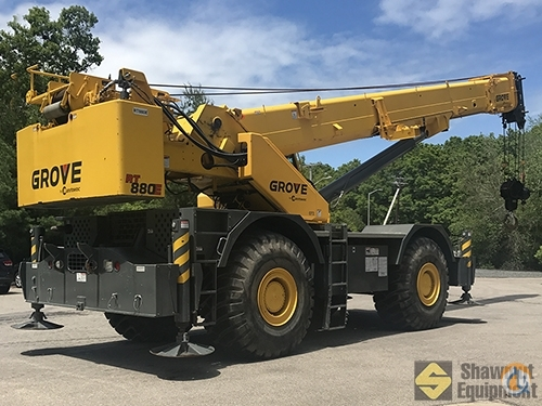 2013 Grove RT880E Crane for Sale in Easton Massachusetts on CraneNetworkcom