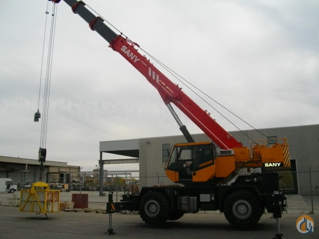 USED 2012 SANY RT-840  40 TON ROUGH TERRAIN CRANE Crane for Sale in Toronto Ontario on CraneNetwork.com