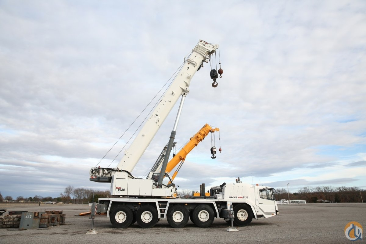 GROVE GMK 5135 U.S. SPEC CRANE BOOM DOLLY HYDRAULIC JIB 20.5 TIRES Crane for Sale on CraneNetwork.com