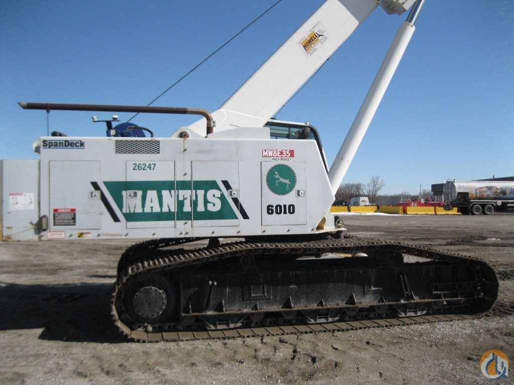 2008 MANTIS 6010 Crane for Sale in Gary Indiana on CraneNetwork.com