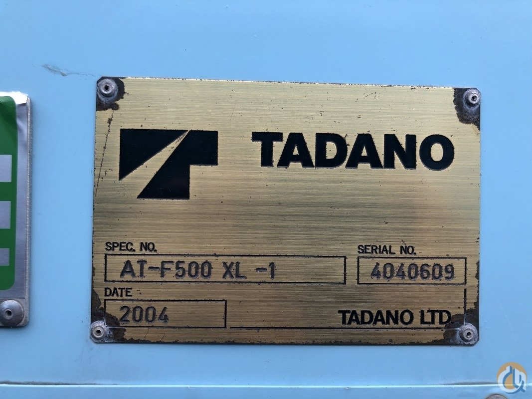 Sold 2004 Tadano ATF 500XL-1 Crane for  on CraneNetwork.com