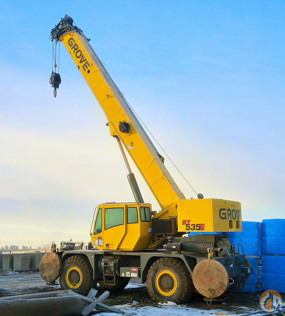 Jib Cranes Edmonton : Sold grove rt e crane for in edmonton alberta on