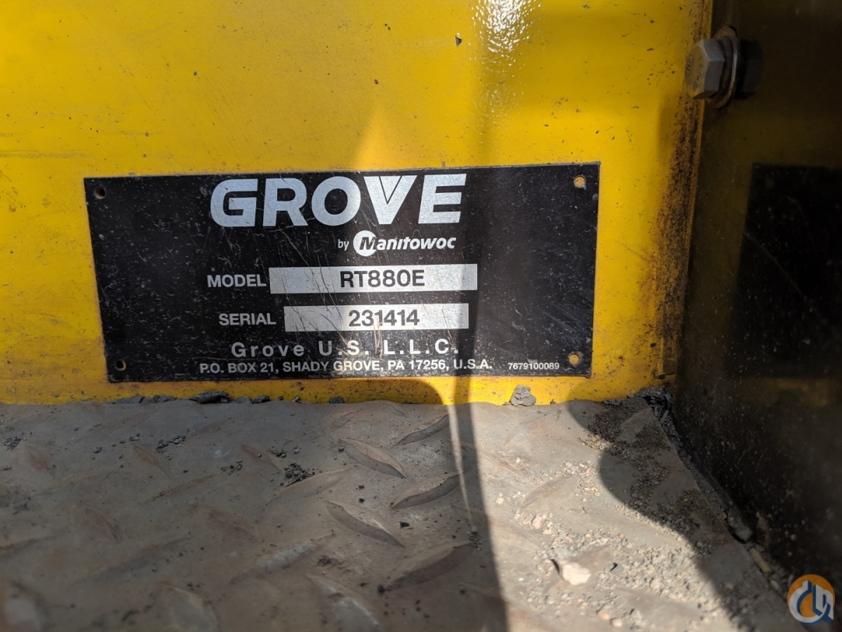 2010 Grove RT880E Crane for Sale on CraneNetwork.com