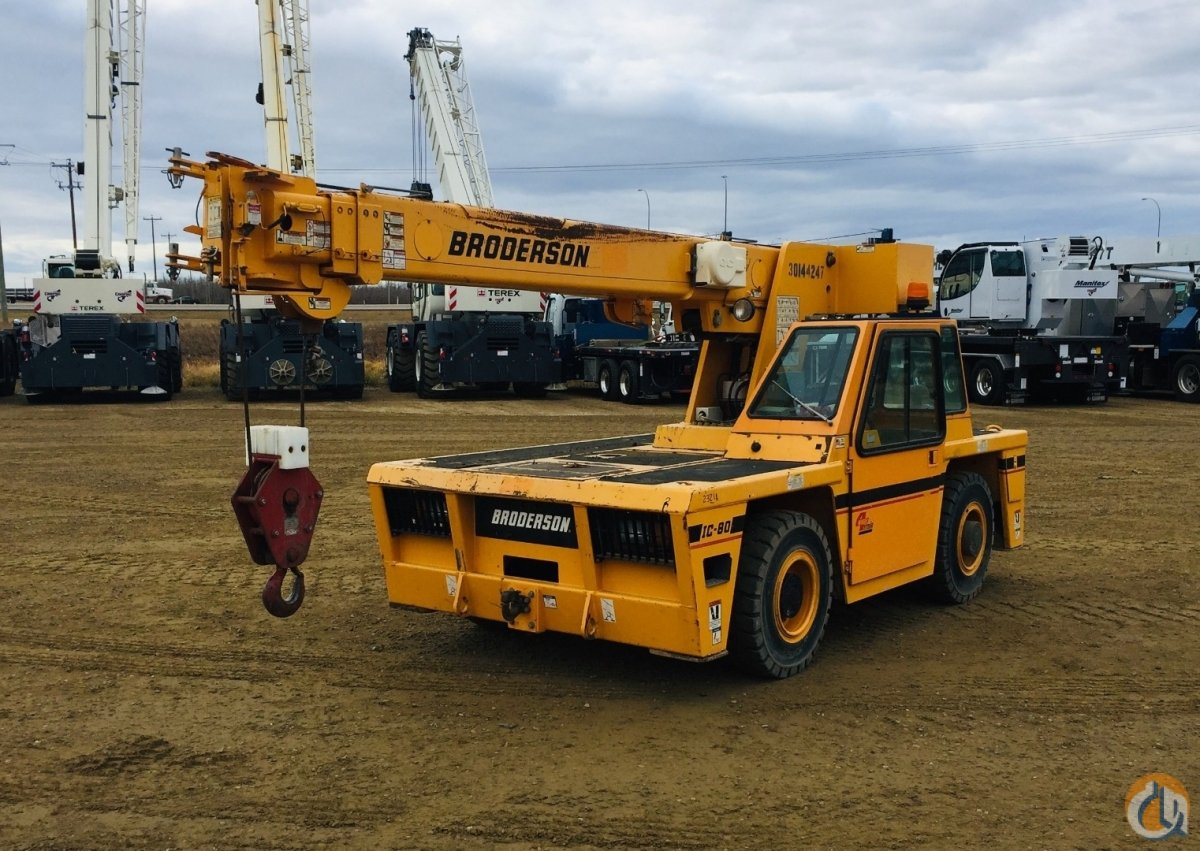 2012 Broderson IC-80-3J Crane for Sale or Rent in Nisku Alberta on CraneNetwork.com