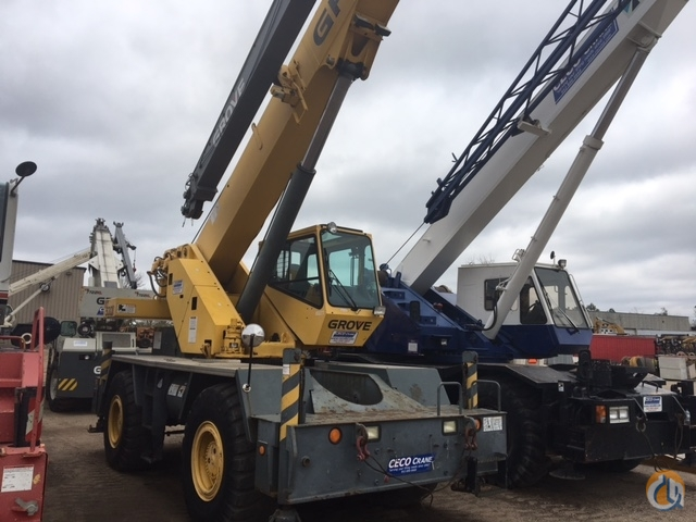 Grove RT530 Rough Terrain Crane. 30 ton Crane for Sale or Rent in Savage Minnesota on CraneNetwork.com