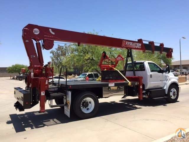 Non - CDL Truck with the REVOLUTION 84RM crane that will reach 84 and is rear mounted. Crane for Sale in Phoenix Arizona on CraneNetwork.com
