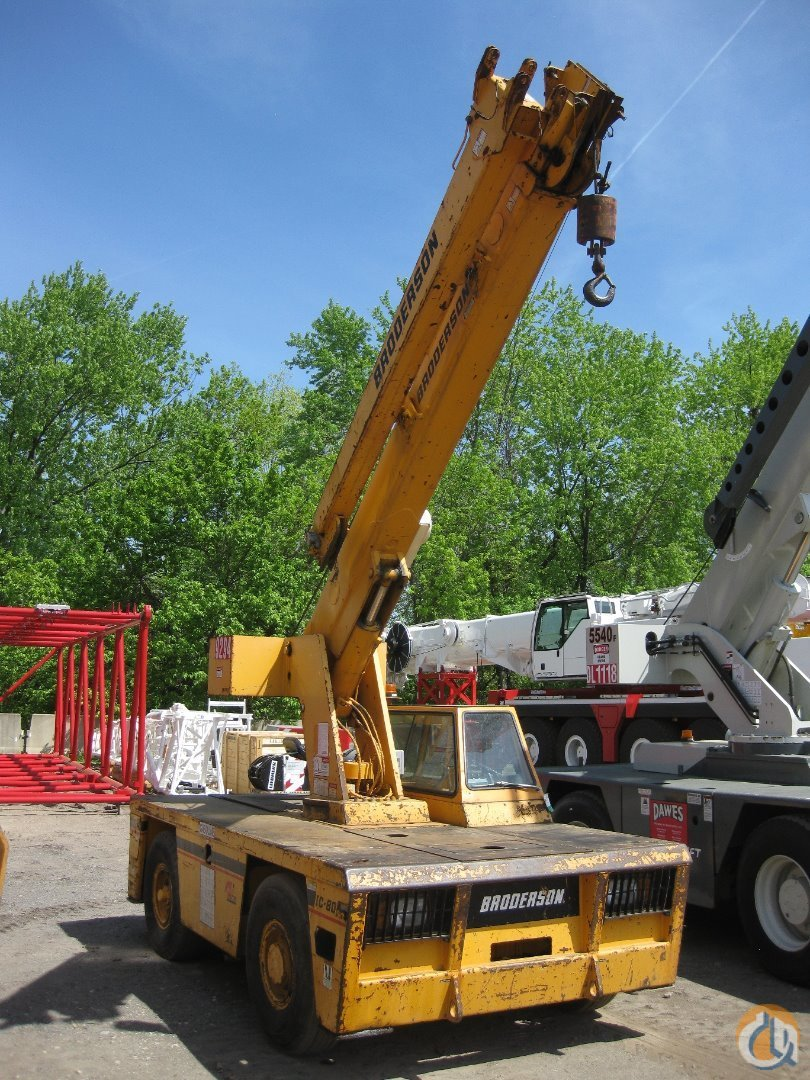 Broderson IC-80-3G For Sale Crane for Sale in Richfield Ohio on CraneNetworkcom