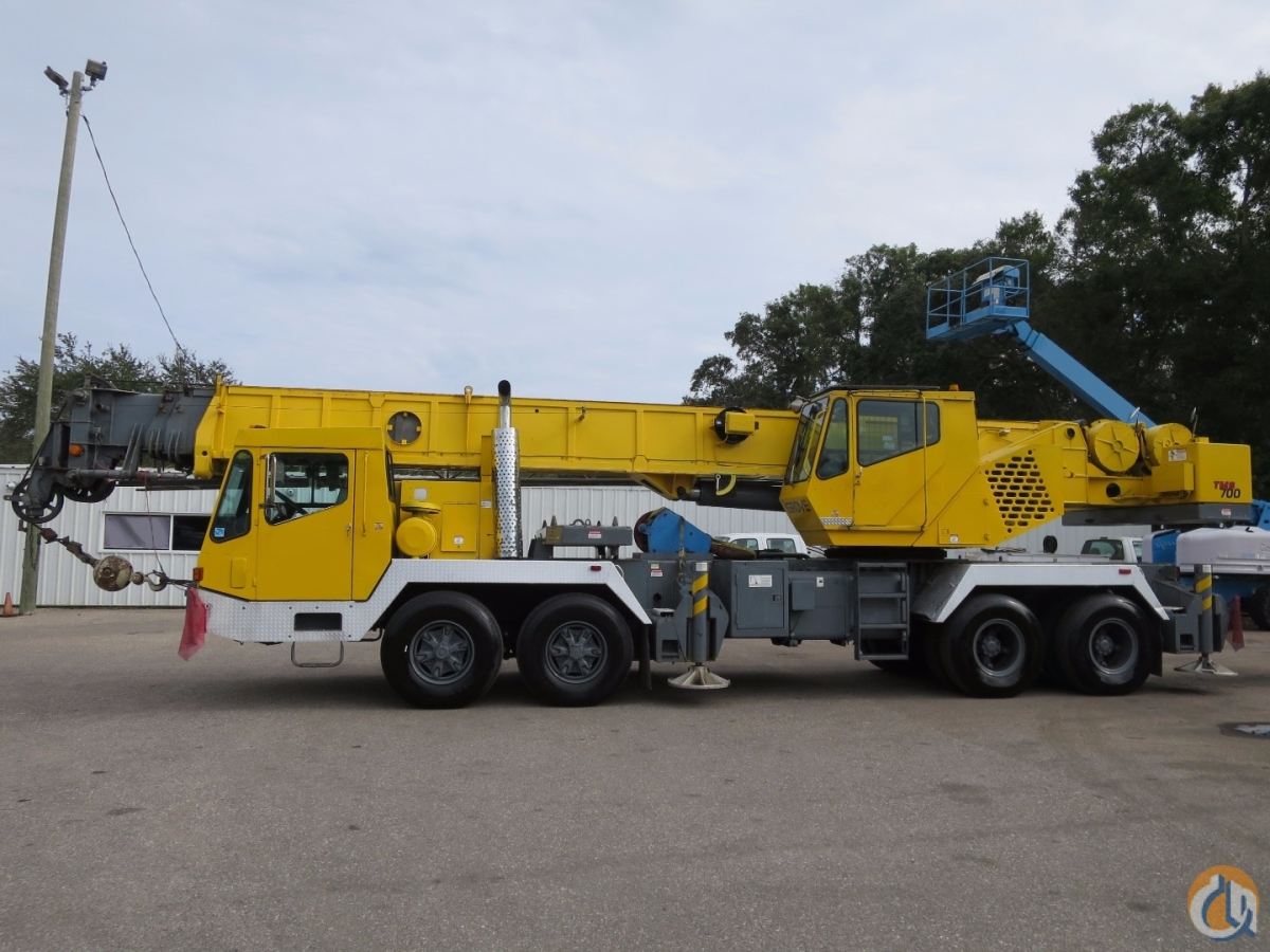 Grove Tms750b 50 Ton Hydraulic Truck Crane 110 Feet Boom